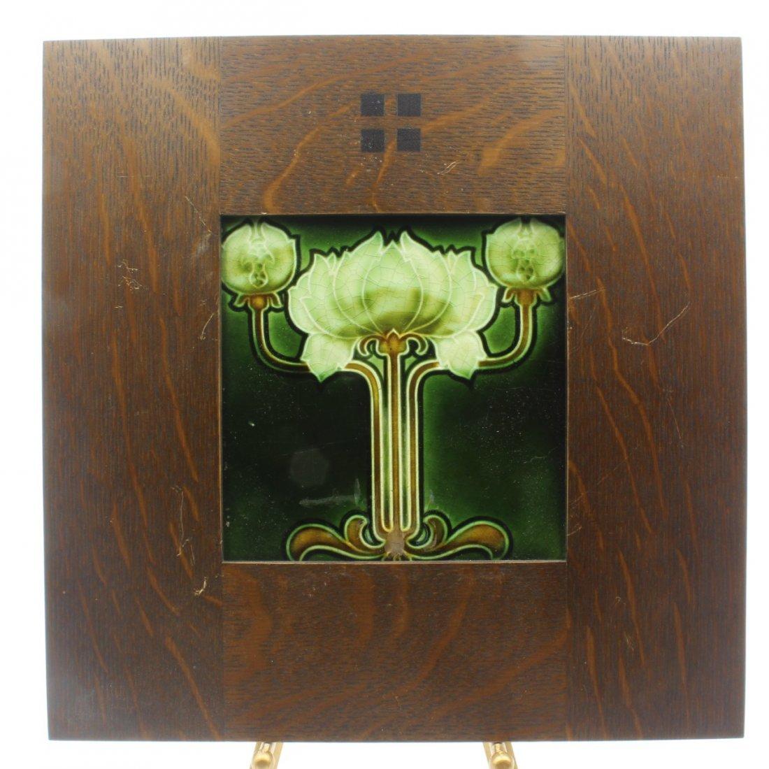 Art Nouveau Design Tile, C. 1908 - 2