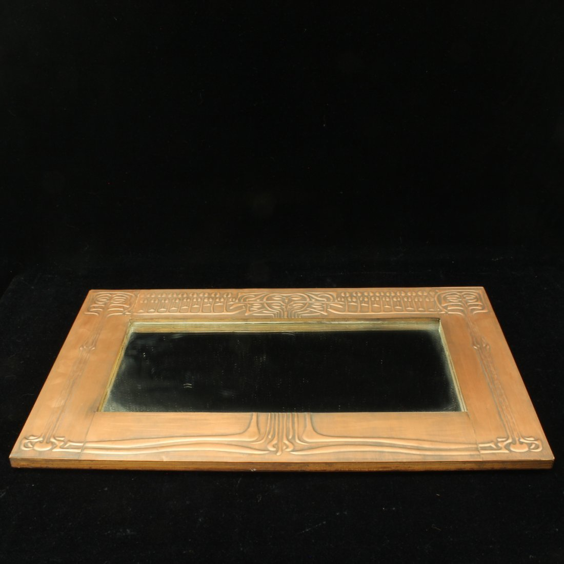 Art Nouveau style Copper framed Mirror - 2