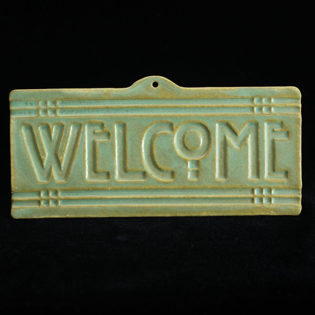 Arts & Crafts or Mission Welcome Plaque