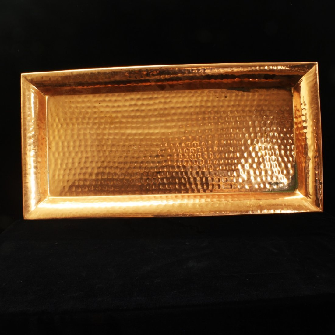Arts & Crafts Style Solid Copper Tray