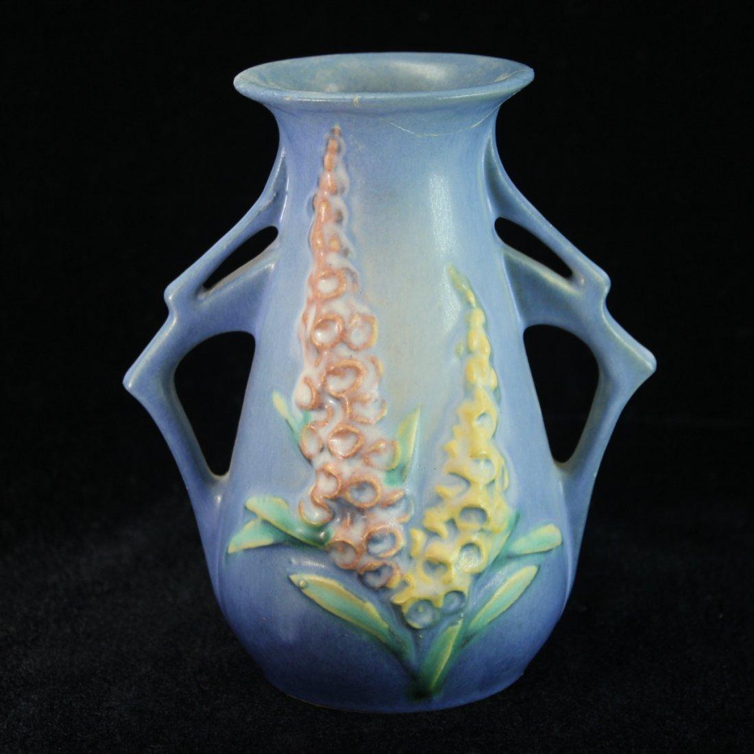 C. 1942 Roseville Foxglove Handled Vase #44-6