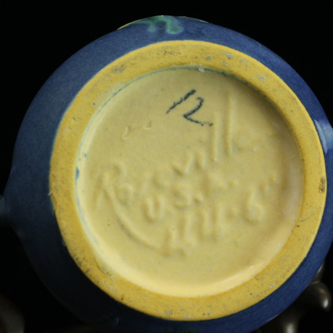 C. 1942 Roseville Foxglove Handled Vase #44-6 - 4