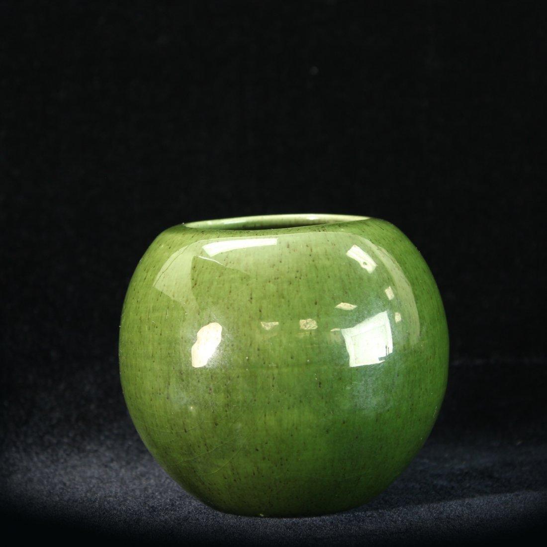 C. 1950 Royal Haeger Apple Green Vase
