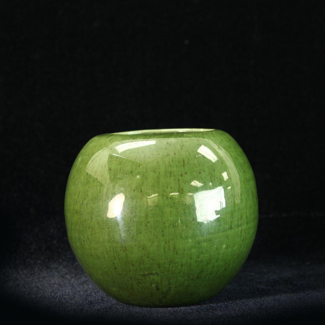 C. 1950 Royal Haeger Apple Green Vase - 2