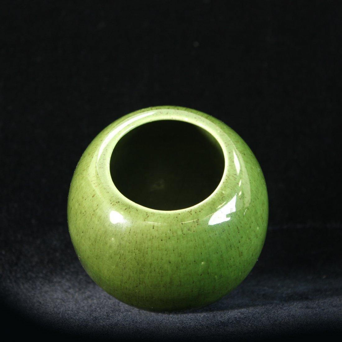C. 1950 Royal Haeger Apple Green Vase - 3