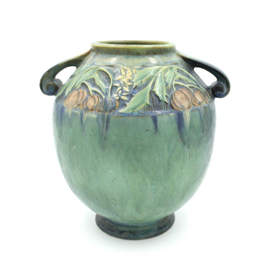 C. 1945 Roseville Baneda Amphora Vase #595-9