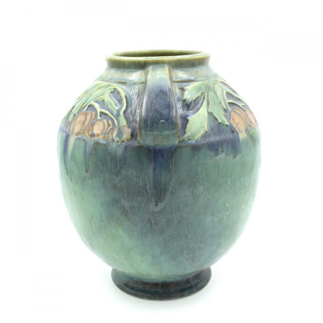 C. 1945 Roseville Baneda Amphora Vase #595-9 - 2