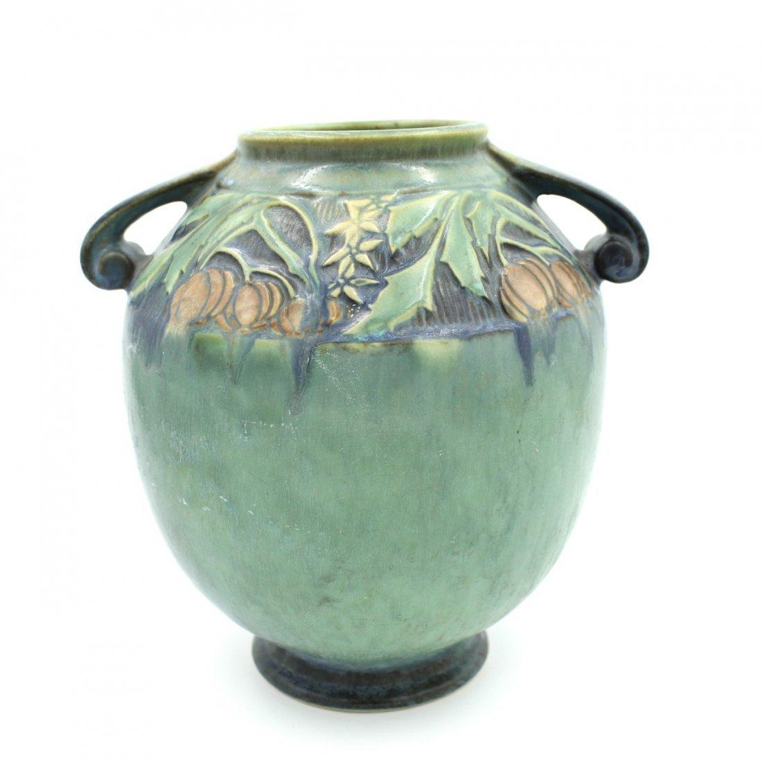 C. 1945 Roseville Baneda Amphora Vase #595-9 - 3