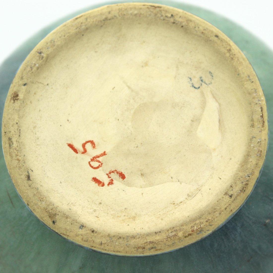 C. 1945 Roseville Baneda Amphora Vase #595-9 - 6