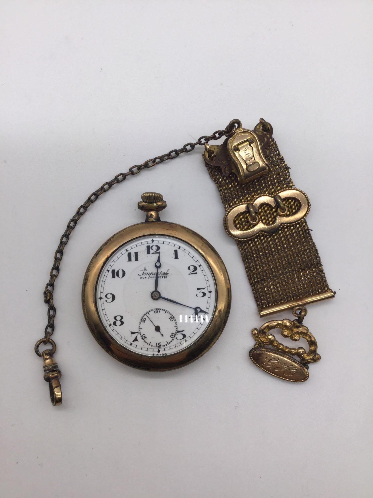 Antique Imperial 15 jewel pocket watch with antique