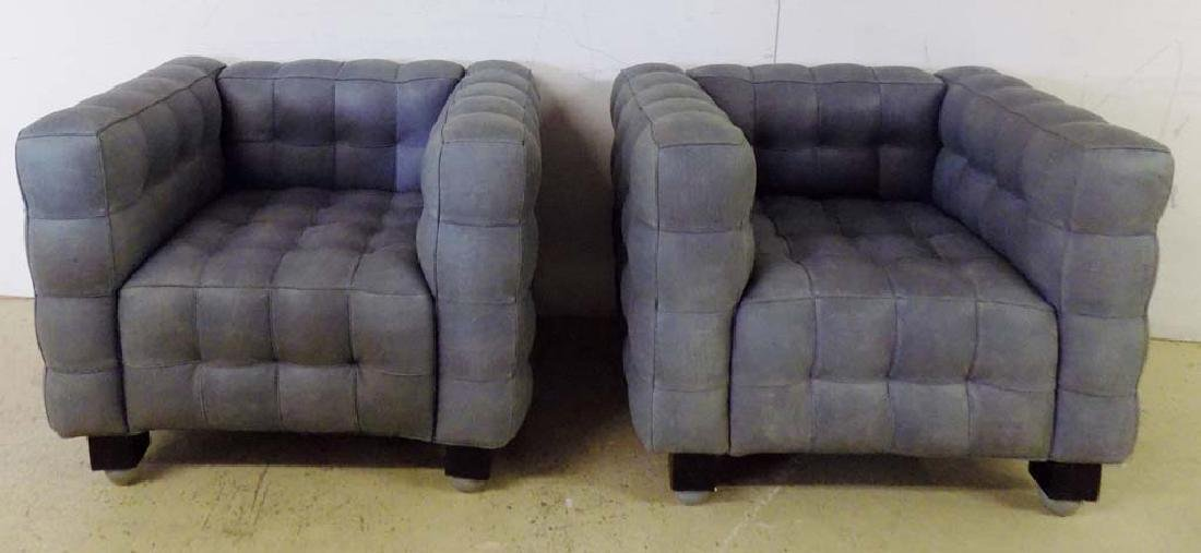 MODERN LEATHER ARM CHAIRS