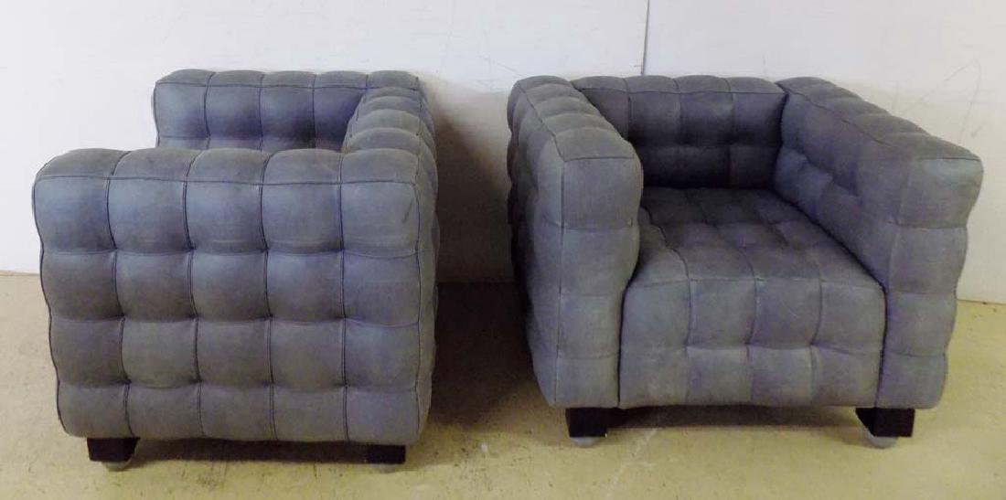MODERN LEATHER ARM CHAIRS - 2