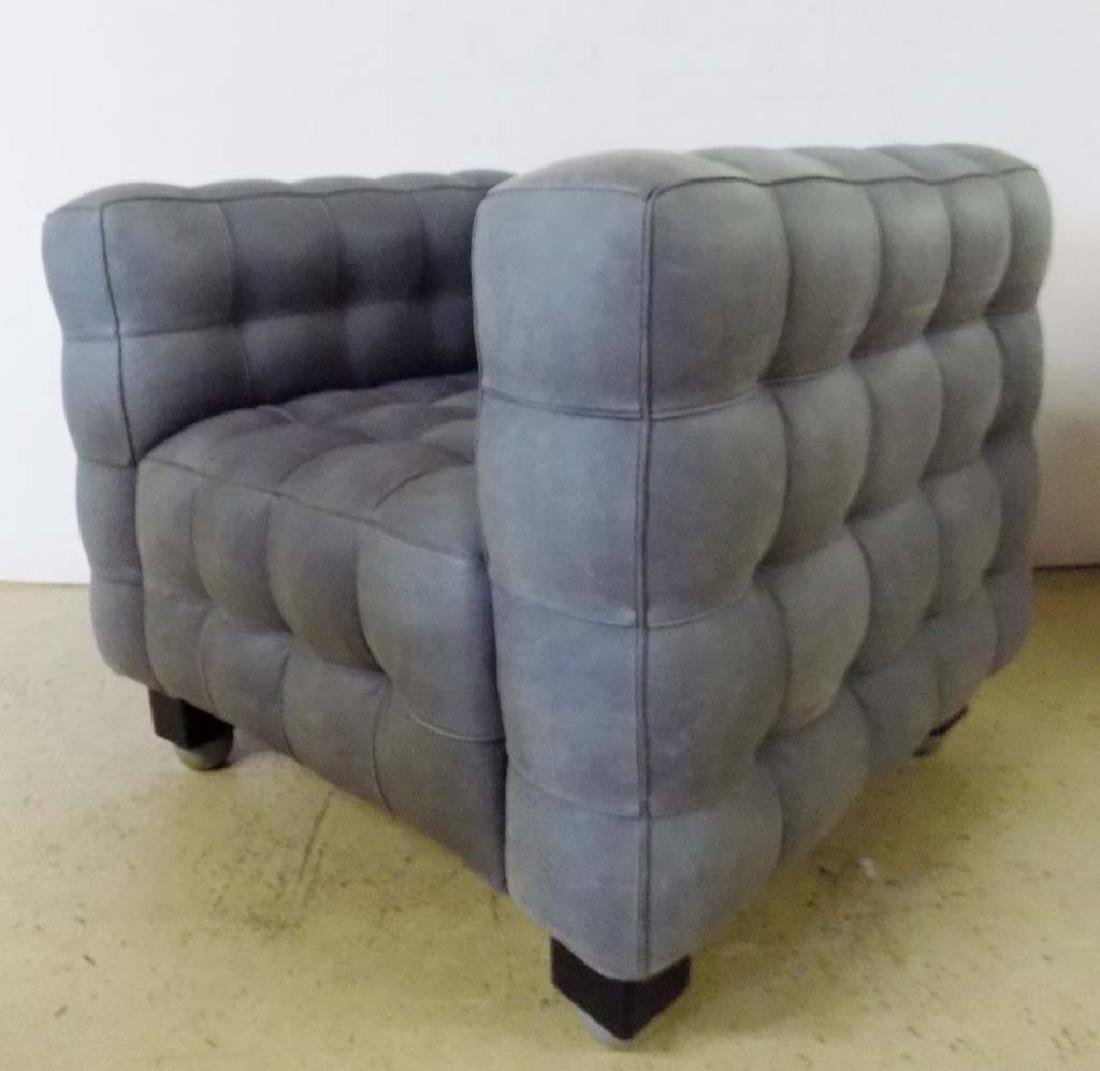 MODERN LEATHER ARM CHAIRS - 5