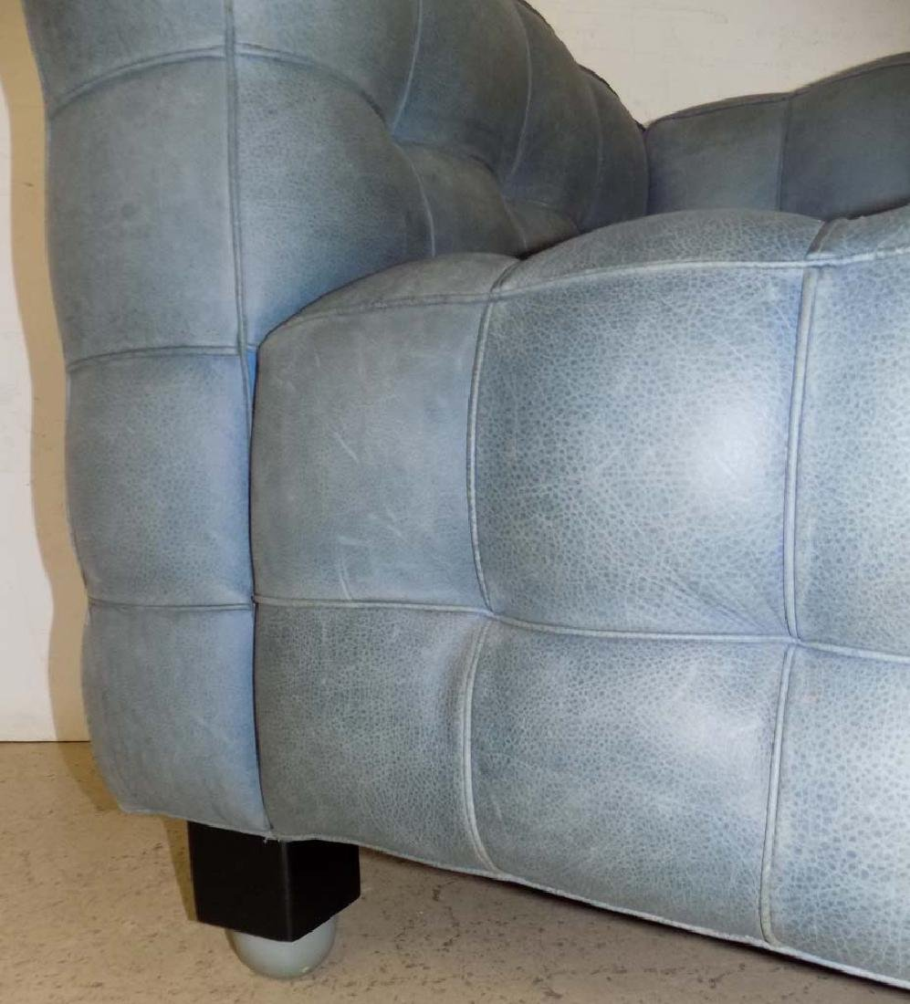MODERN LEATHER ARM CHAIRS - 6