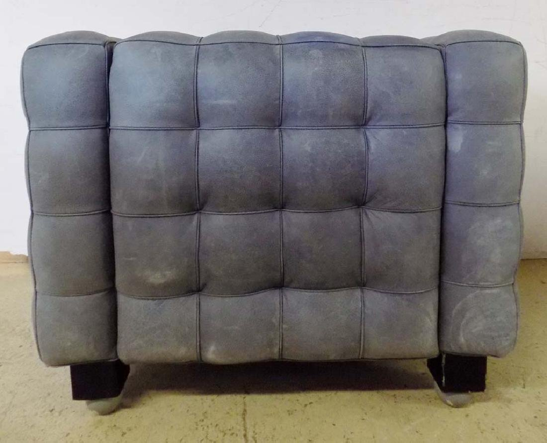 MODERN LEATHER ARM CHAIRS - 7