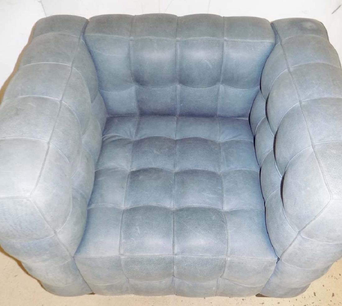 MODERN LEATHER ARM CHAIRS - 8