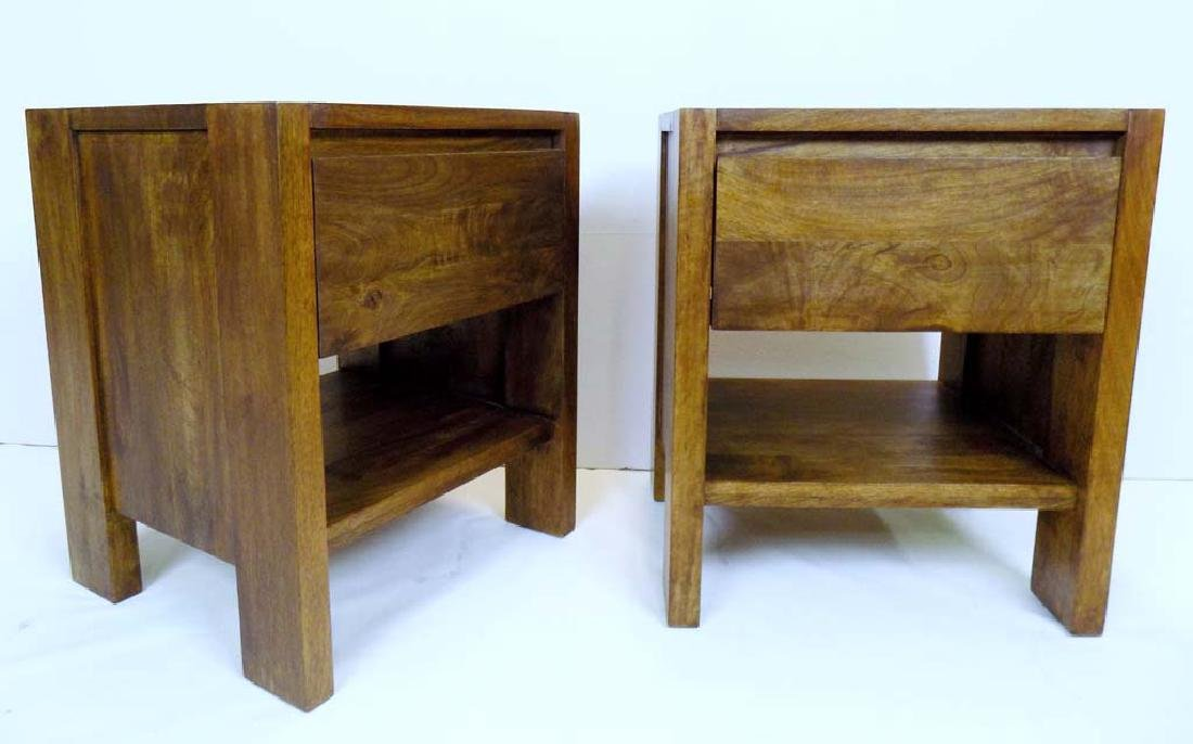 PAIR OF WILLIAMS SONOMA END TABLES
