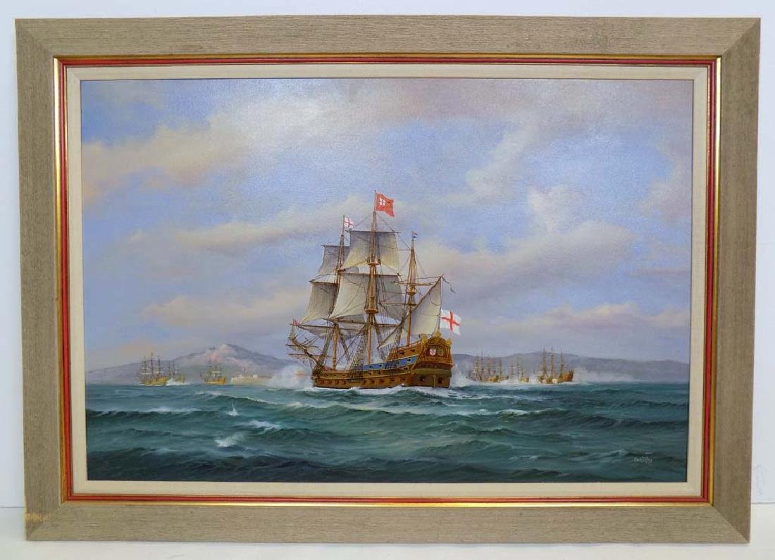"""SIGNED EARL COLLINS """"ST. GEORGE"""" OIL ON CANVAS"""