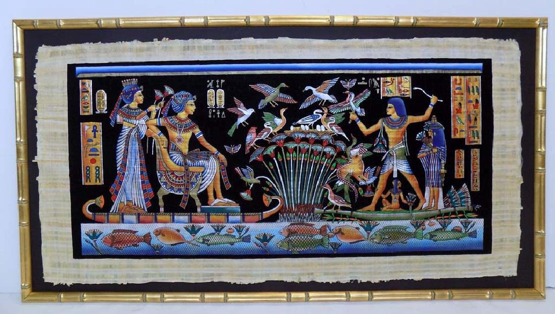 EGYPTIAN HAND PAINTED WALL ART