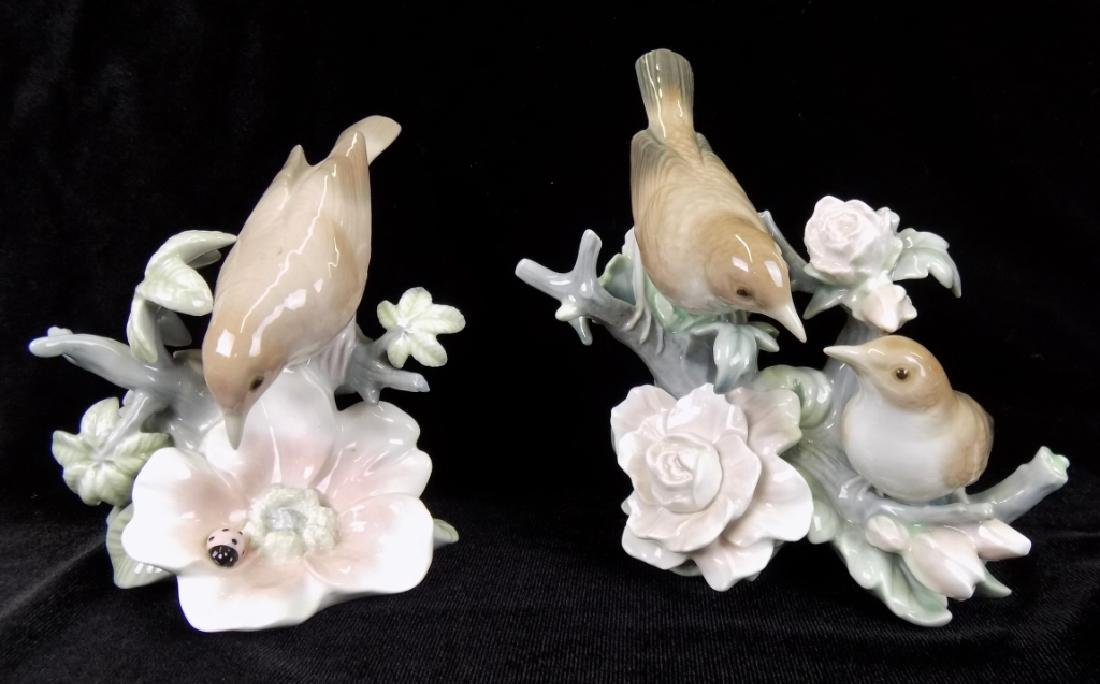 TWO LLADRO BIRD FIGURINES