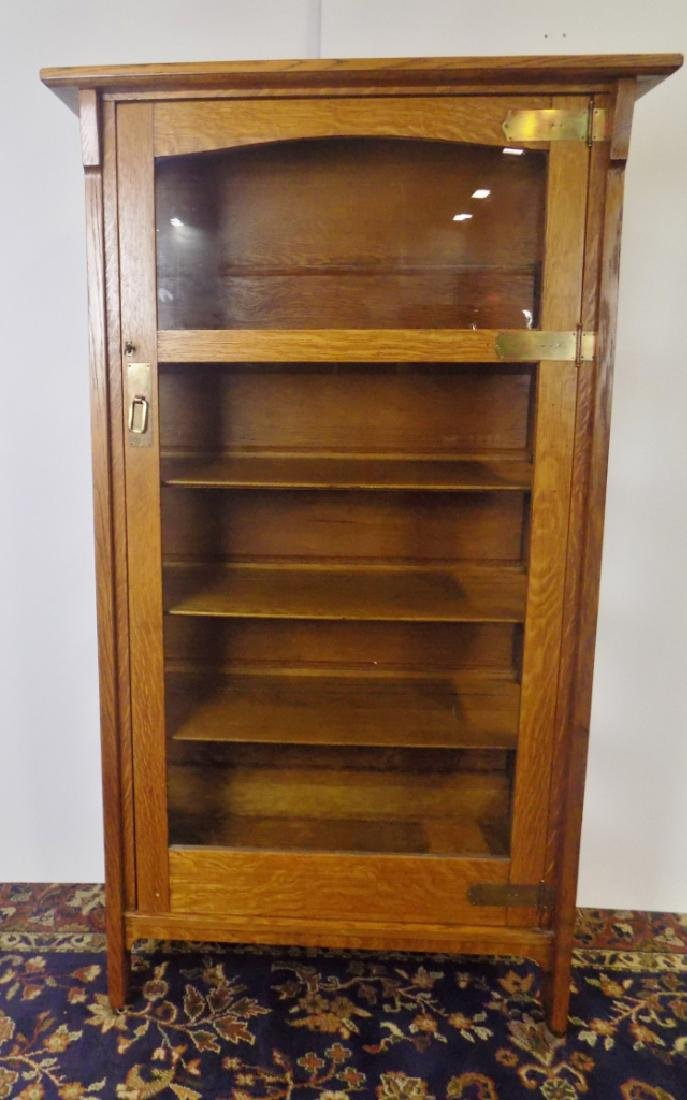 OAK ARTS AND CRAFTS CABINET