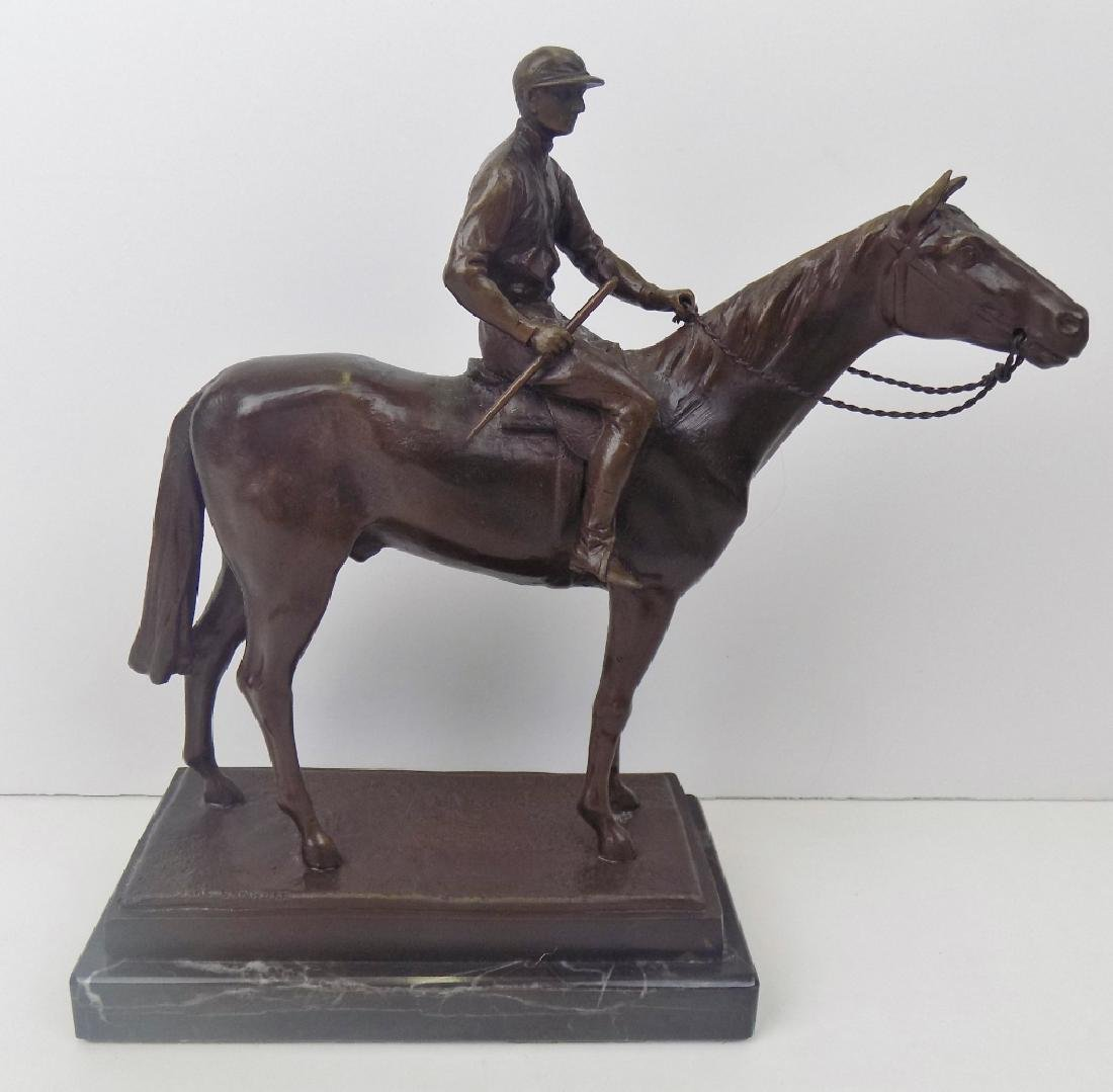 HORSE AND JOCKEY BRONZE