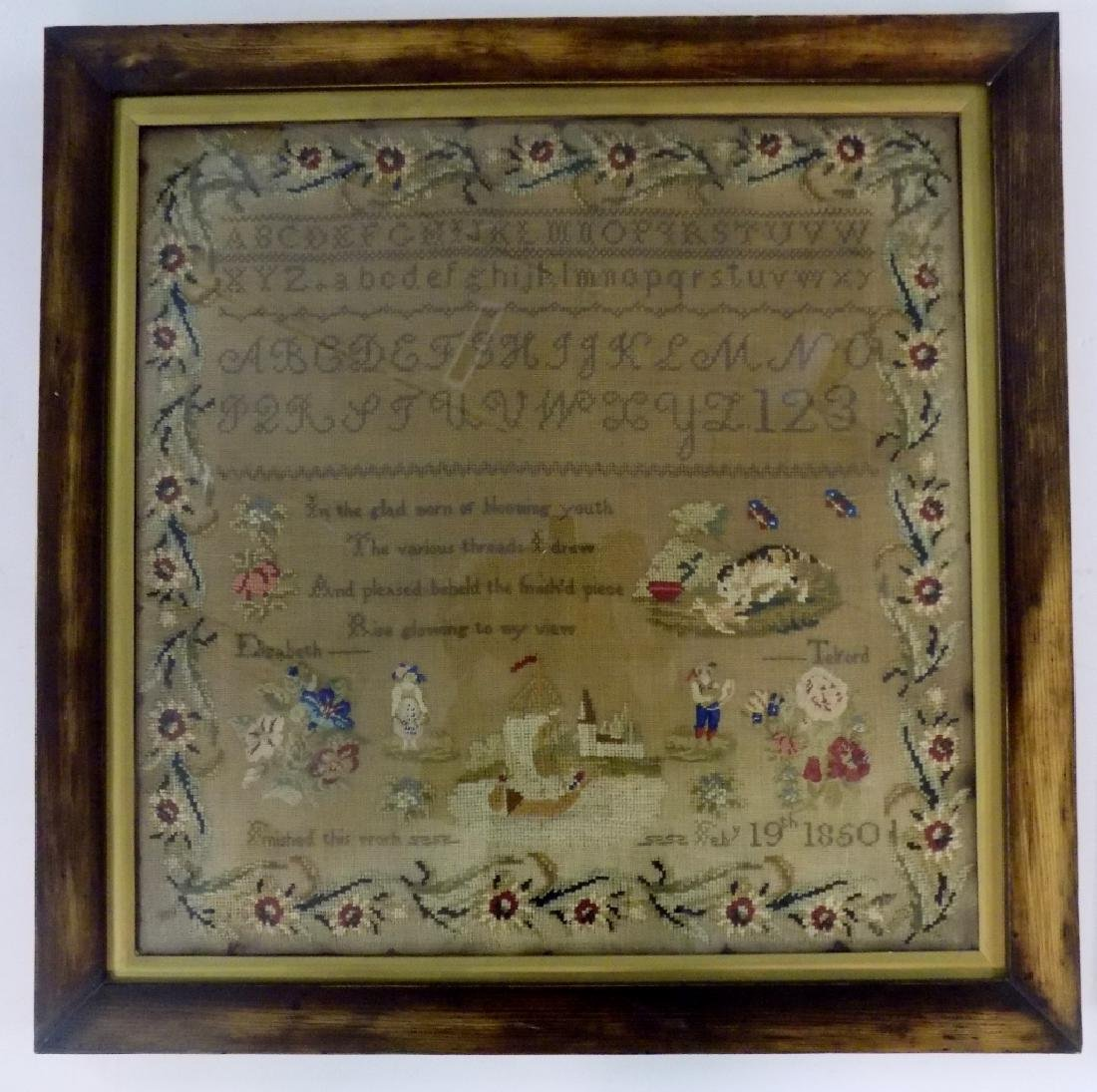 1850 ALPHABET SAMPLER