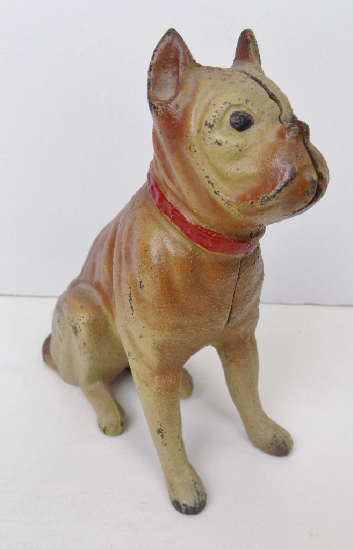 CAST IRON BULLDOG BANK