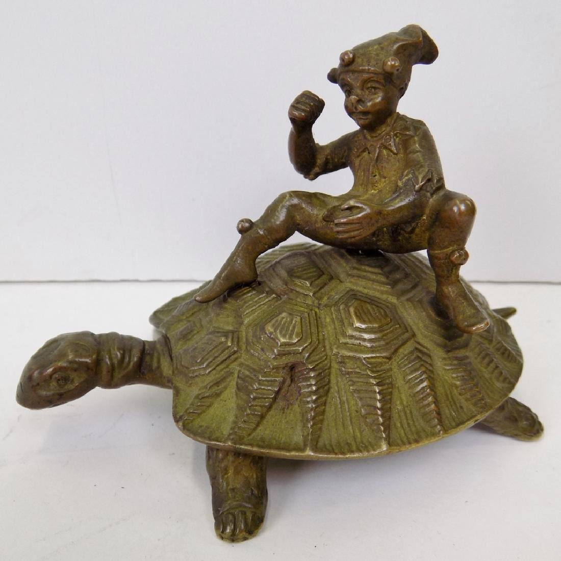 BOY AND TORTOISE BRONZE