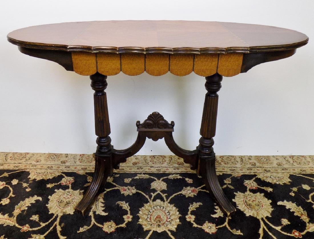 EDWARDIAN STYLE INLAID SOFA TABLE