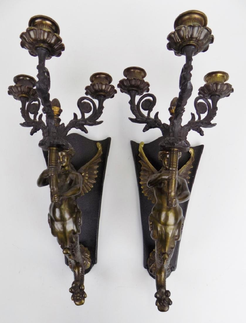 BRONZE FIGURAL SCONCES