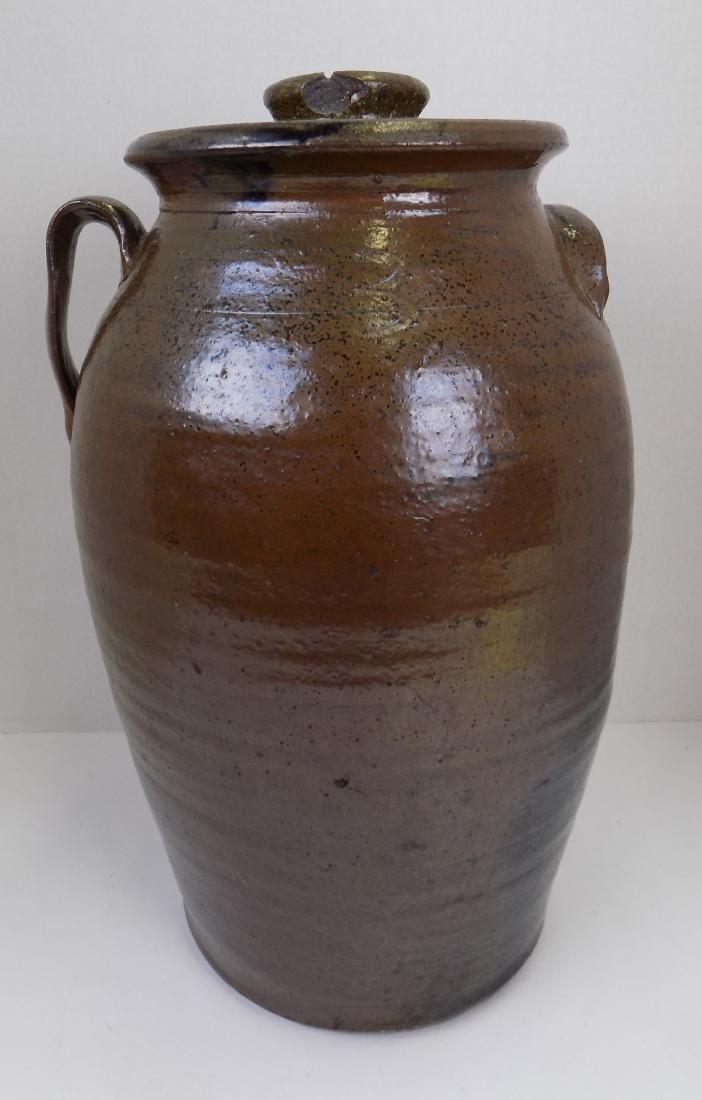 3 GAL. BROWN STONEWARE JAR