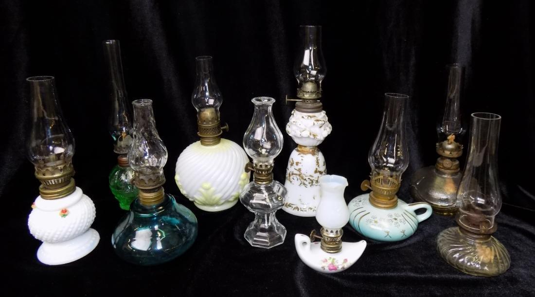 MINIATURE OIL LAMP LOT