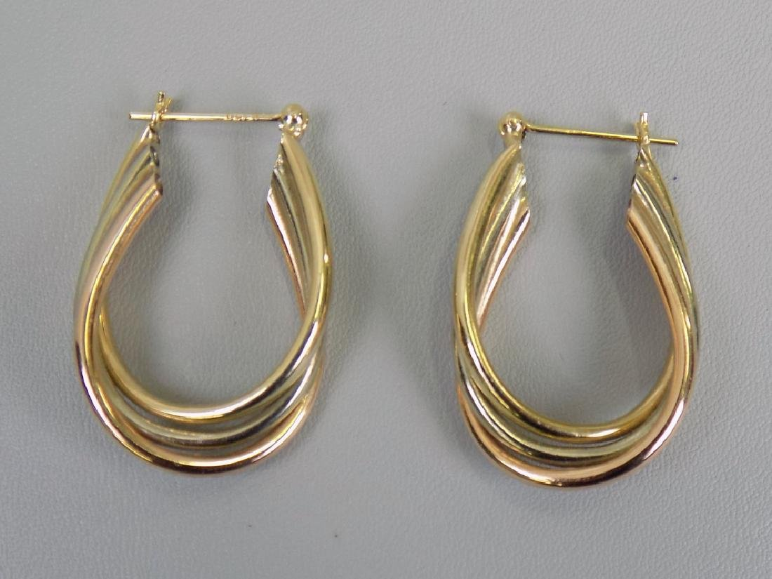 PAIR GOLD HOOP EARRINGS