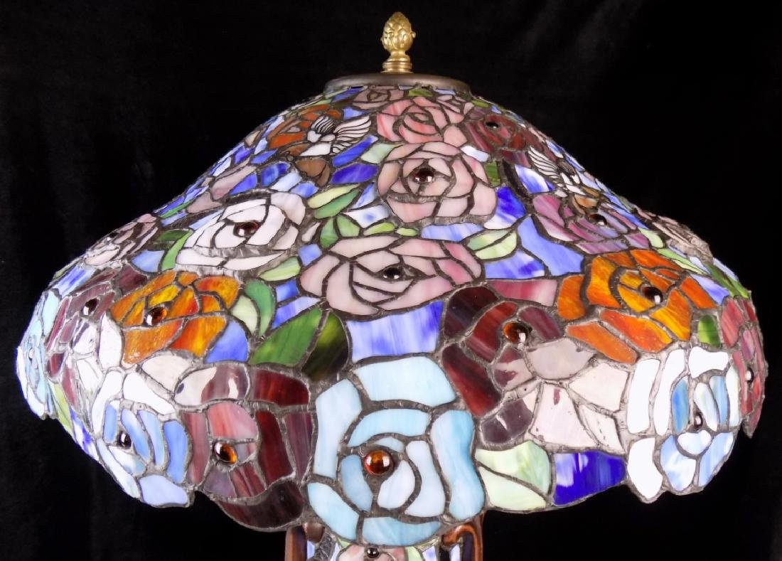 STAINED GLASS TABLE LAMP - 4