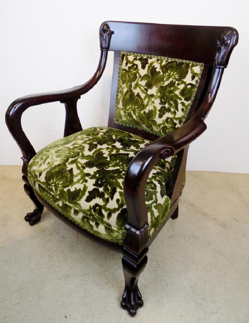 CARVED PARLOR CHAIR