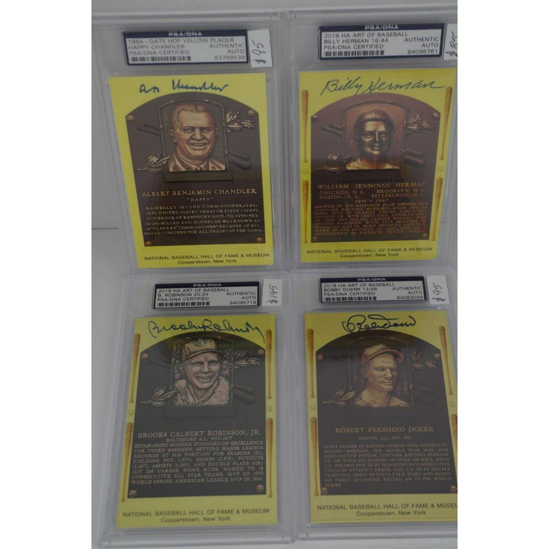 PSA GRADED AUTOGRAPHED HALL OF FAME BASEBALL CARDS