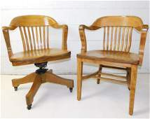 TWO MARKED OAK CHAIRS