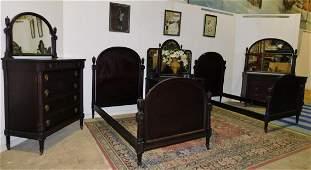 FIVE PIECE CARVED BEDROOM SET