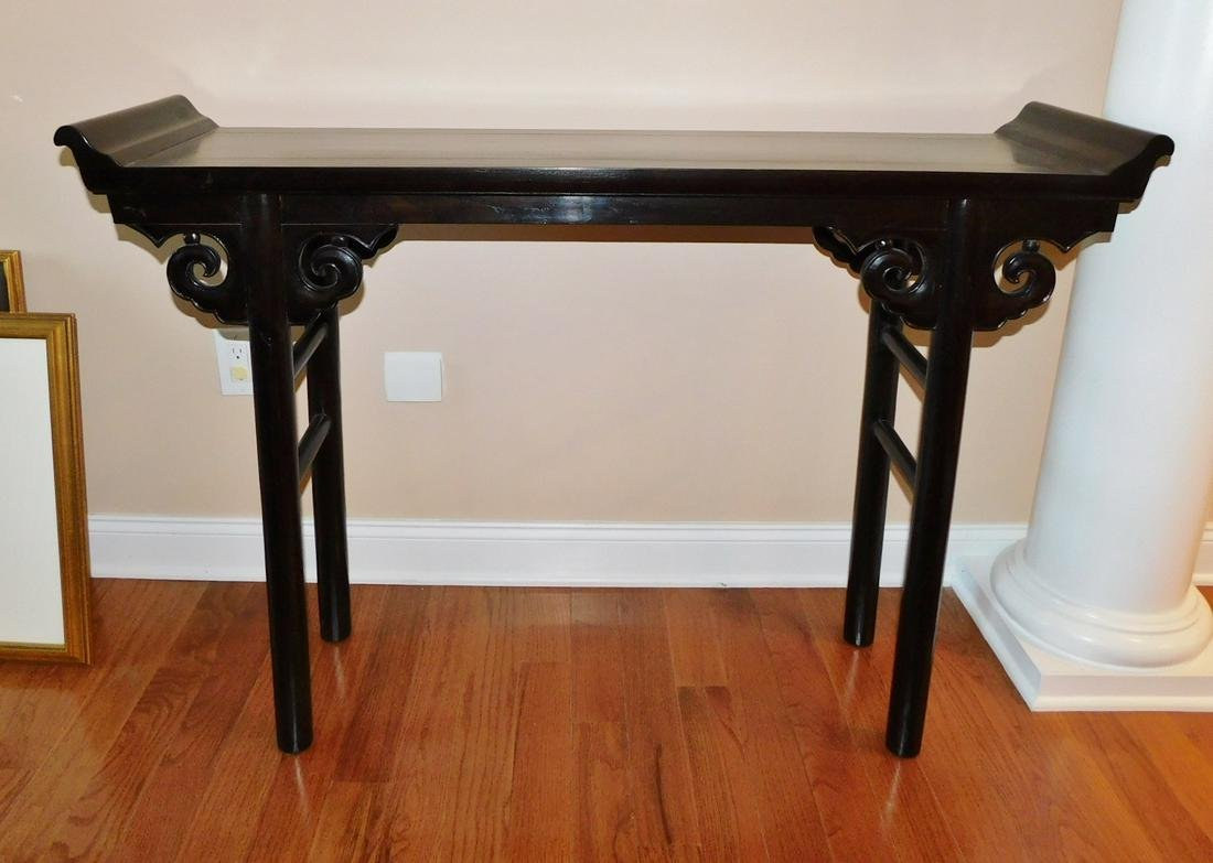ASIAN STYLE CARVED CONSOLE TABLE