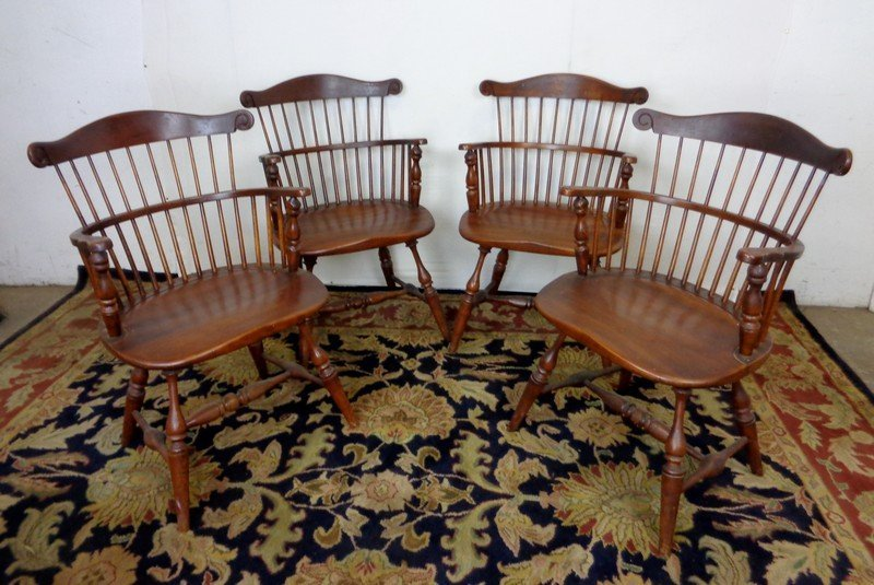 Set Of 4 Royal Governor Arm Chairs By Frederick Duckloe