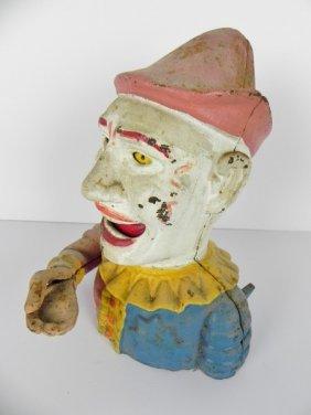 Cast Iron Clown Bank