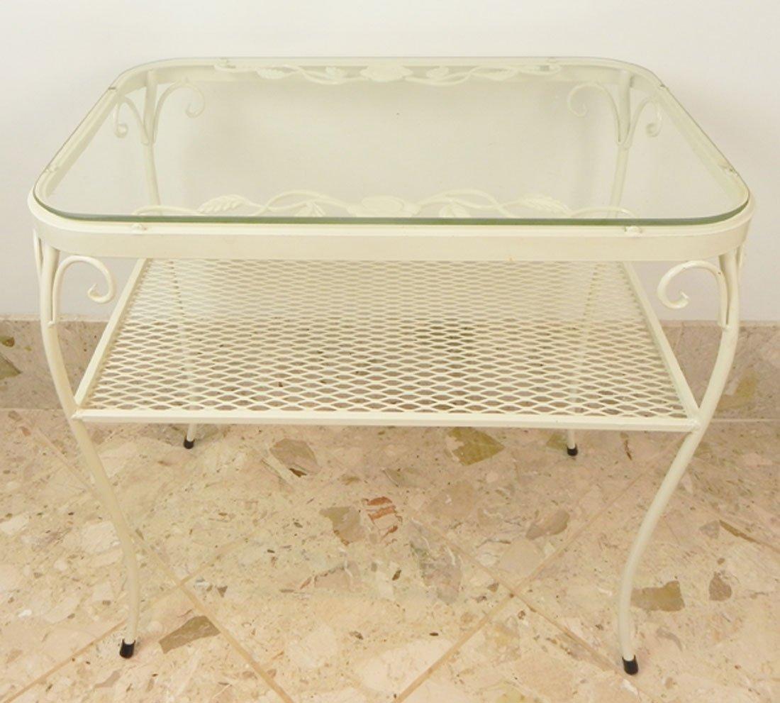 White Iron Table