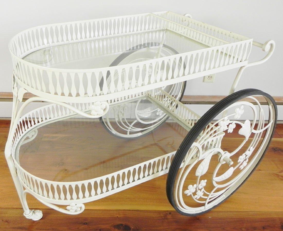 White Iron Tea Cart