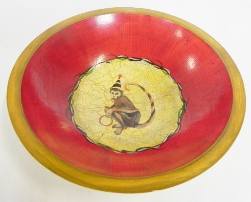 HAND PAINTED SIGNED BOWL