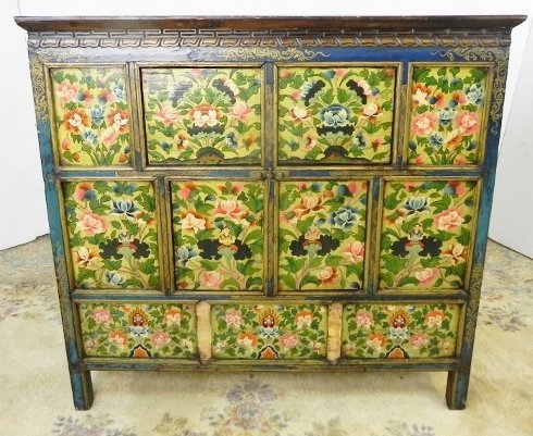 DECORATED TIBETAN CABINET