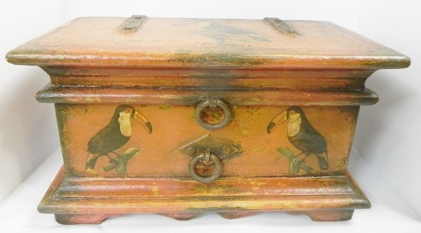 DECORATED CHEST, BRAZILIAN BAROQUE