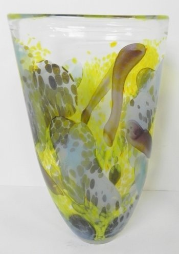 SIGNED ART GLASS NUVO VASE
