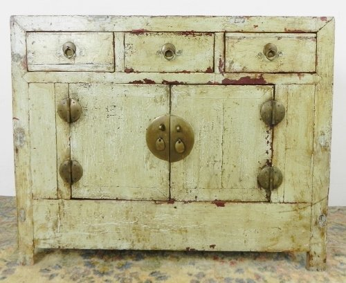 OLD MONGOLIAN SINGLE BUFFET CABINET