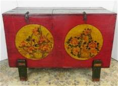 VINTAGE DECORATED DOUBLE TOP CHEST